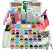 12 STUKS UV Gel Primer Topcoat Cleanser Plus Nail Glitter Strip Decor Nail Borstel Alle Voor Manicure Nail Art Set apparaat Voor Manicure(China)