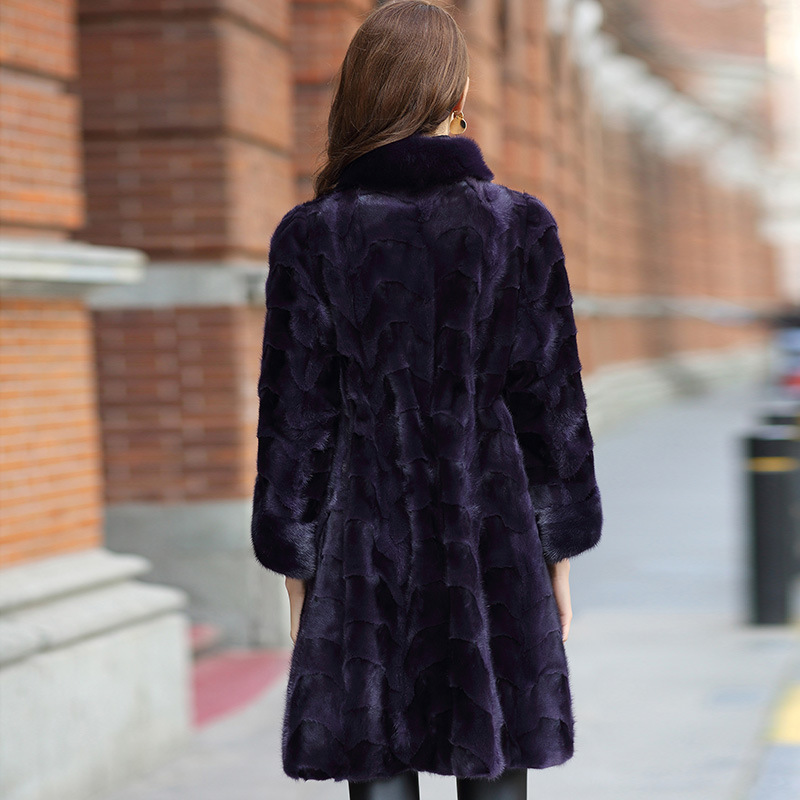 Real Coat Women Clothes Female 100% Mink Fur Jacket Fashion Vintage Autumn Winter Coats And Jackets HQ12-XYDM1211C YY364