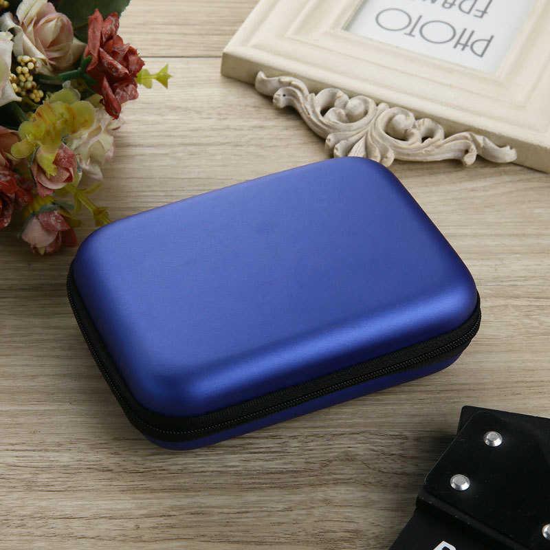 """Nowy przenośny 2.5 """"dysk zewnętrzny USB dysk twardy HDD futerał do przenoszenia pokrywa wielofunkcyjny kabel etui na słuchawki torba na PC Laptop"""