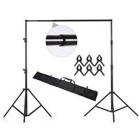 Andoer Photography Backdrop Stand Kit Aluminium Alloy Background Studio Support Photo Video Crossbar Kit Photography Recording