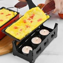 Портативная швейцарская печь для сыра, мини противень для выпечки с антипригарным маслом и сыром в шотландском стиле, блюдо для барбекю, прочный противень для выпечки
