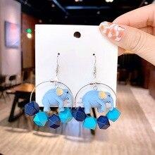Fashion Unique Metal Hanging Dangle Earrings For Women Vintage Geometric Statement Drop Jewelry Wholesale brincos
