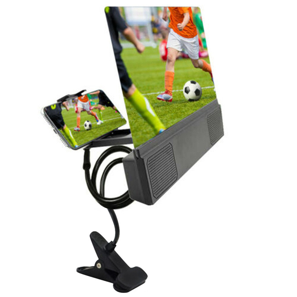 Ouhaobin Mobile Phone Screen Amplifier Bracket HD Projection Bracket 12-inch Screen With Speaker Cell Phone Accessories
