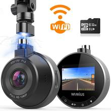 WIMIUS 1080P HD Dash Cam Wifi Car DVR 170 Wide Angle dashcam Loop Recording G-Sensor WDR Parking Mode Car Dash Camera Monitor