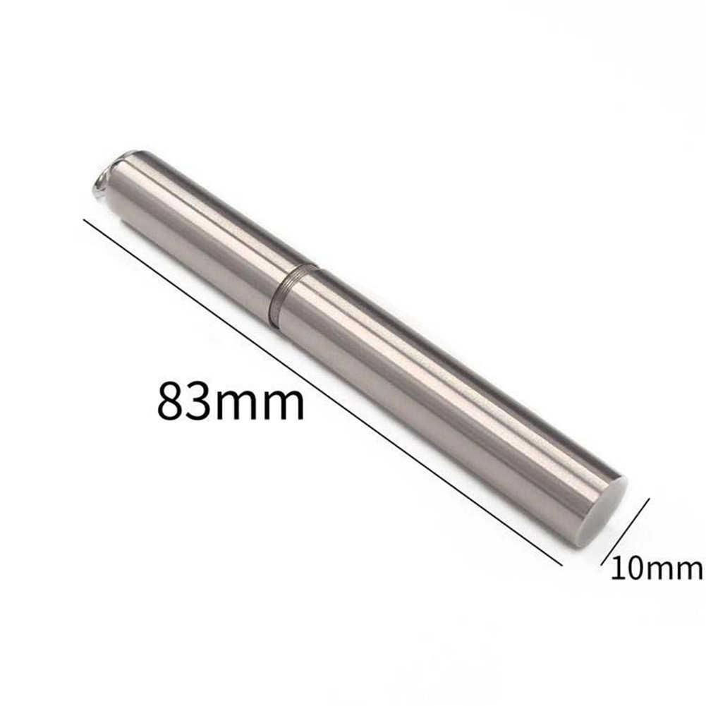 Utile Portable en acier inoxydable cure-dents en plein air étanche résistant à la rouille voyage maison boîte de rangement joint cure-dents