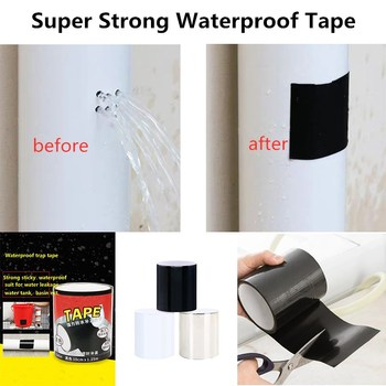 1Pcs Super Strong Waterproof Stop Leaks Seal Repair Tape Universal Black Home Water Pipe Tools Sticky Tapes Dropship