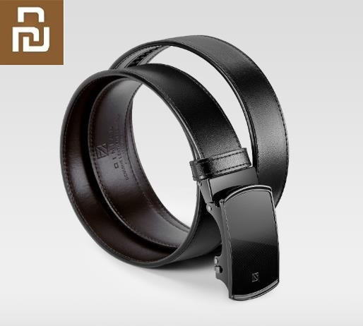 Xiaomi Qimian Luxury Men's Belt Leather Automatic Buckle Cowhide Belt Business Casual Simple Belt Nebula Series