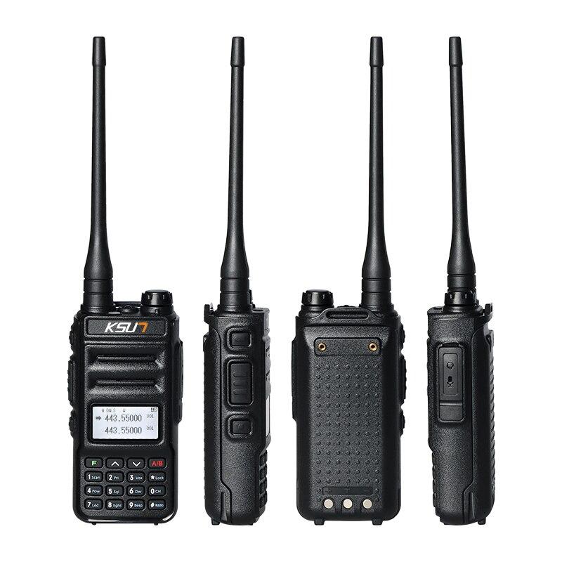 1 Or 2PC  KSUN 8W Walkie Talkie Long Range VHF UHF Dual Band Two Way Radio Station VOX Communicator HF Transceiver Walkie-talkie