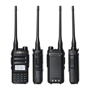 Image 2 - KSUN Walkie Talkie de banda Dual, Radio de mano, comunicador bidireccional HF, transceptor, walkie talkie aficionado