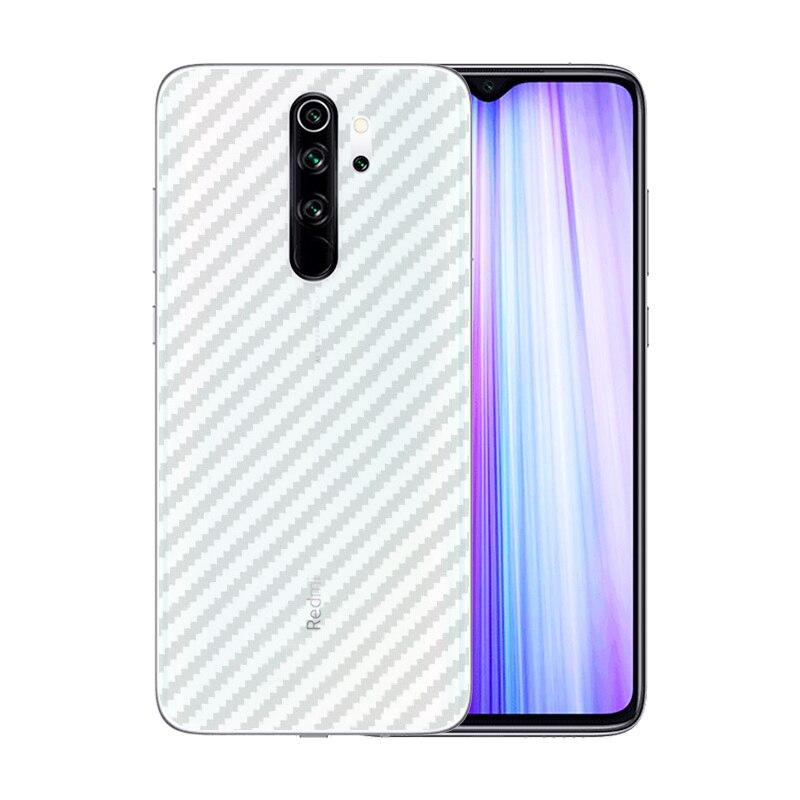 3 Pcs/Lot UltraThin Slim Transparent Carbon Fiber Sticker For Xiaomi Redmi Note 8 Pro 6.53