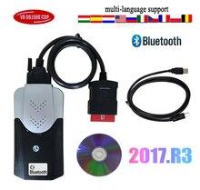 2016.R0/2017.R3 keygen con VD bluetooth per del(obd2 nuovo Scanner per strumenti diagnostici obd2 per camion auto vci con custodia