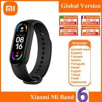 Xiaomi Mi Band 6 versione globale Smart Bracelet 5 colori schermo AMOLED ossigeno nel sangue Fitness Traker Bluetooth Smart Band impermeabile