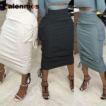Женская облегающая юбка карандаш в стиле панк готика с высокой