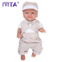 IVITA WB1512 14 inch 1.65kg Full Body soft Silicone Reborn Dolls Alive Simulated bonecas Eyes Opened smile Baby boy toys