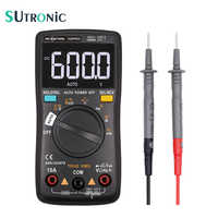 Multímetro Digital RM102PRO 6000 cuentas luz trasera automática voltímetro de CA/CC probador de transistor de frecuencia de diodo de temperatura
