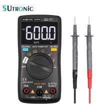 Multímetro digital rm102pro, multímetro digital de 6000 contagens, luz traseira automática ac/dc, voltímetro, transistor tester, temperatura de diodo de frequência