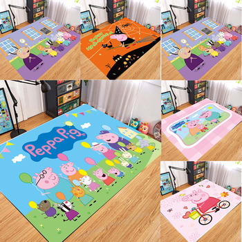 Peppa Pig Anti-slip Flannel Mat Peppa Door Mat Kid Room 3D Cartoon Floor Mat Washable Kitchen Bathroom Carpet Christmas Gift 1