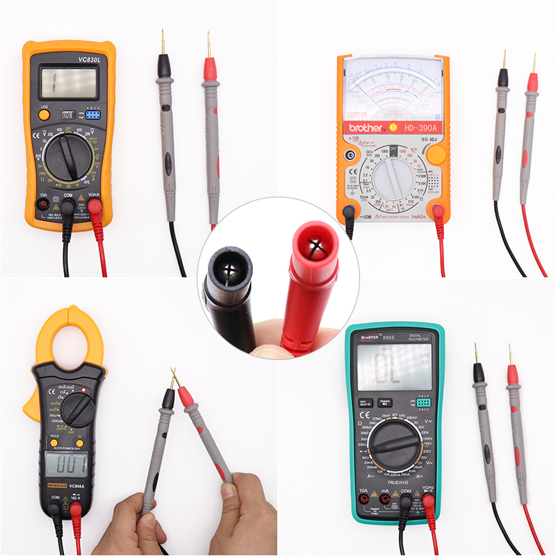 1Pair Universal Digital 1000V 10A 20A Thin Tip Needle Multimeter Multi Meter Test Lead Probe Wire 1Pair Universal Digital 1000V 10A 20A Thin Tip Needle Multimeter Multi Meter Test Lead Probe Wire Pen Cable Multimeter Tester