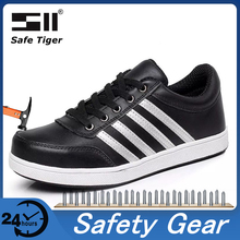 Construction Safety Shoes for Men Steel Toe Work Safety Boots Work Shoes Puncture-Proof Work Sneakers