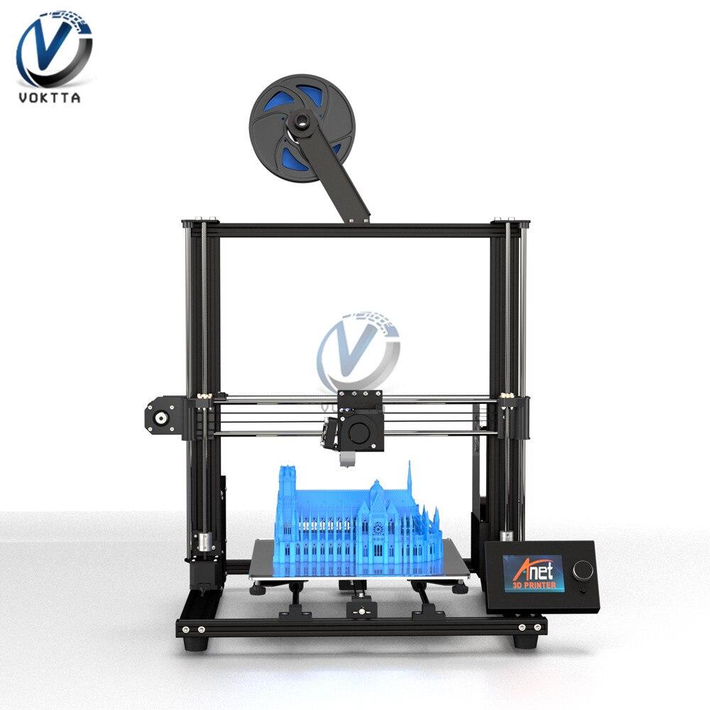 All Metal Anet A8 Plus 3D Printer Kit LCD Control Panel Large Print Size 300*300*350mm High Precision Desktop 3d Printer DIY
