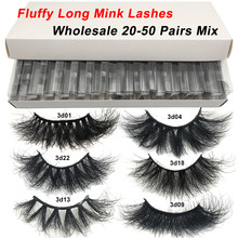 RED SIREN 5-50 pairs Fluffy Lashes 25mm 3d Mink Lashes Wholesale In Bulk Dramatic Long Natural Eyelashes Makeup Mink Eyelashes