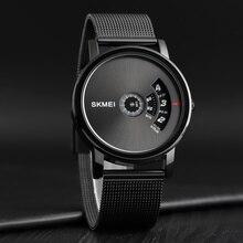 SKMEI ใหม่ตาข่ายเข็มขัดควอตซ์นาฬิกาแฟชั่น Casual ชายนาฬิกาข้อมือนาฬิกาผู้ชาย Relogio Masculino