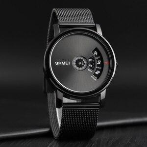 Image 1 - SKMEI Новые Креативные кварцевые мужские часы со стальным сетчатым ремешком, водонепроницаемые Модные повседневные мужские наручные часы, мужские часы