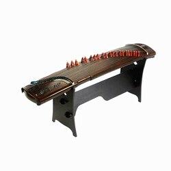 Çin Guzheng profesyonel kabartmalı katı ahşap Zither ana İmza Guzheng birinci sınıf platan ahşap yaylı çalgılar