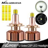 2 sztuk H7 ledowa żarówka do reflektorów 12 stron CSP 360 światła samochodowe H8 H11 led światła przeciwmgielne 18000LM 70W żarówki HB3 HB4 H1 lampa samochodowa do samochodu