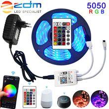 Taśma LED 5050 RGB WiFi 3528 elastyczna wstążka fita RGB led listwa oświetleniowa wodoodporna 5M 10M 15M taśma DC 12V pilot WiFi Adapter