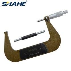 Shahe 0.01mm 125 150mm zewnętrzny mikrometr mikrometr urządzenie pomiarowe mechaniczne wskaźniki mikrometr precyzyjne narzędzia Mikrometry Narzędzia -