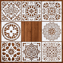 Get more info on the Mandala wall Drawing Stencil 15x15cm 4pcs/lot for painting DIY hosehold decoration Template Photo frame Stencils