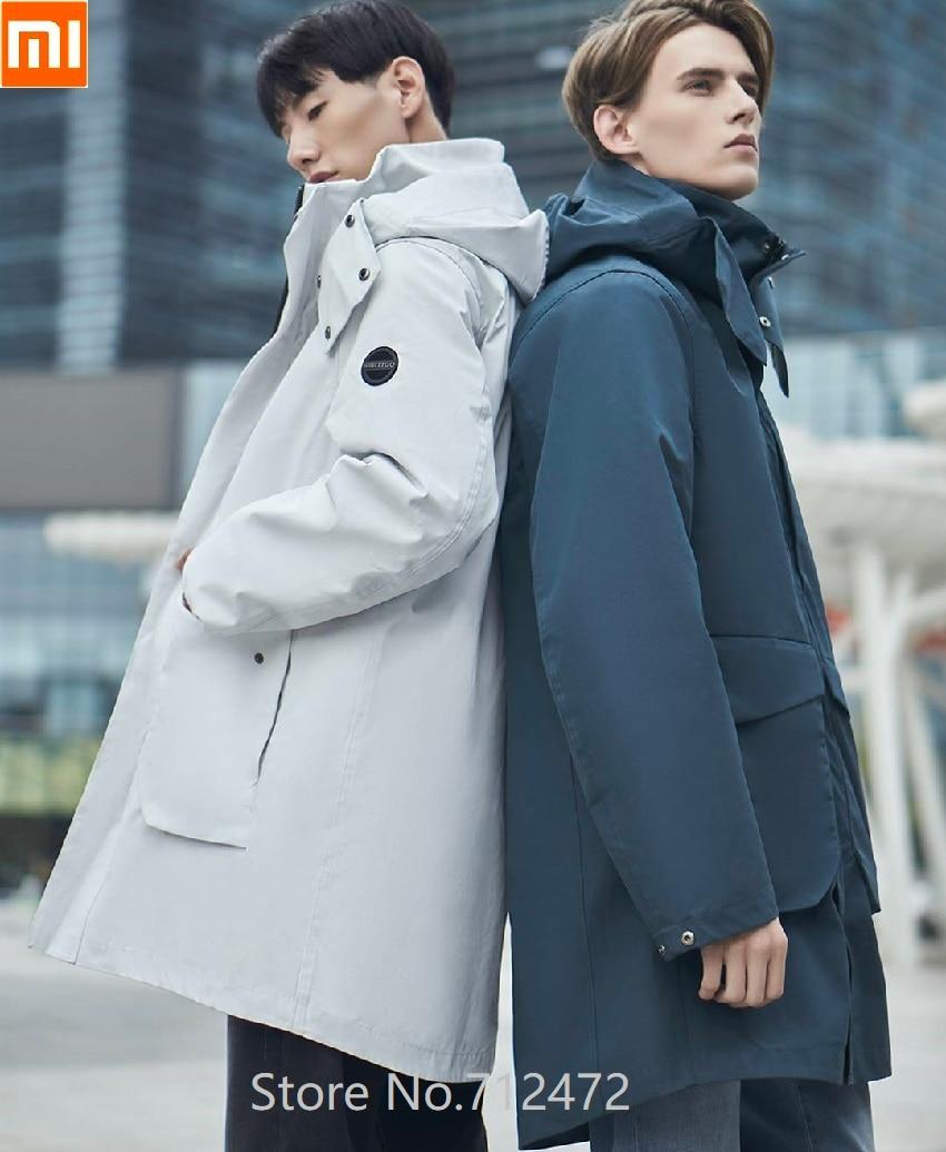 Xiaomi 90fun, мужская куртка три в одном, 90%, белый пуховик, ветрозащитная, водонепроницаемая, теплая, ветровка, длинный пуховик, зимнее пальто с ка