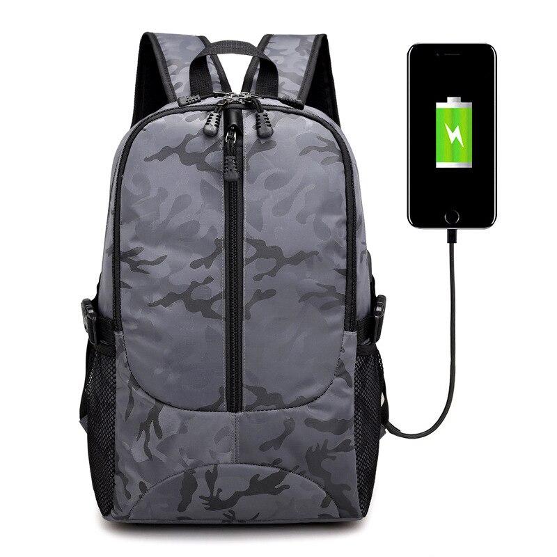 Sac à dos pour ordinateur portable externe USB Charge ordinateur sacs à dos sacs imperméables pour hommes d'affaires voyage sac à dos garçons sacs d'école