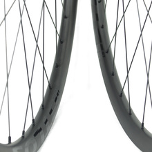 650B Asymmetric 24mm inner width Mountain Bike carbon wheels with novatec D411/D412SB - WM-i24A-7-N