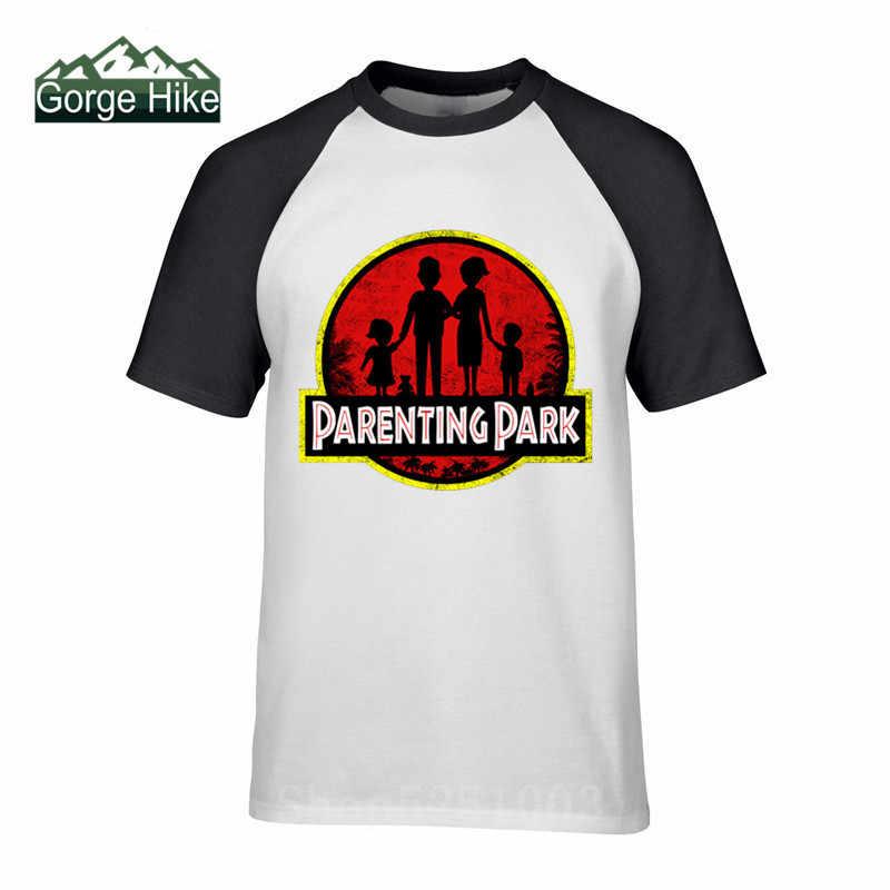 2019 Tops Tees Jurassic Ouders Park T-shirt Mannen Dinosaurus Print T Shirts Zwart Tshirt Zomer Verjaardagscadeau Kleding Katoen Stof