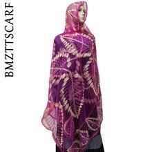 Новая сеть африканская Женская шаль женский шарф с вышивкой, высокое качество шарф из тюли, мягкий материал шарф