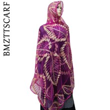 New Net African women scarf embroidery women scarf ,high quality net scarf ,soft material scarf