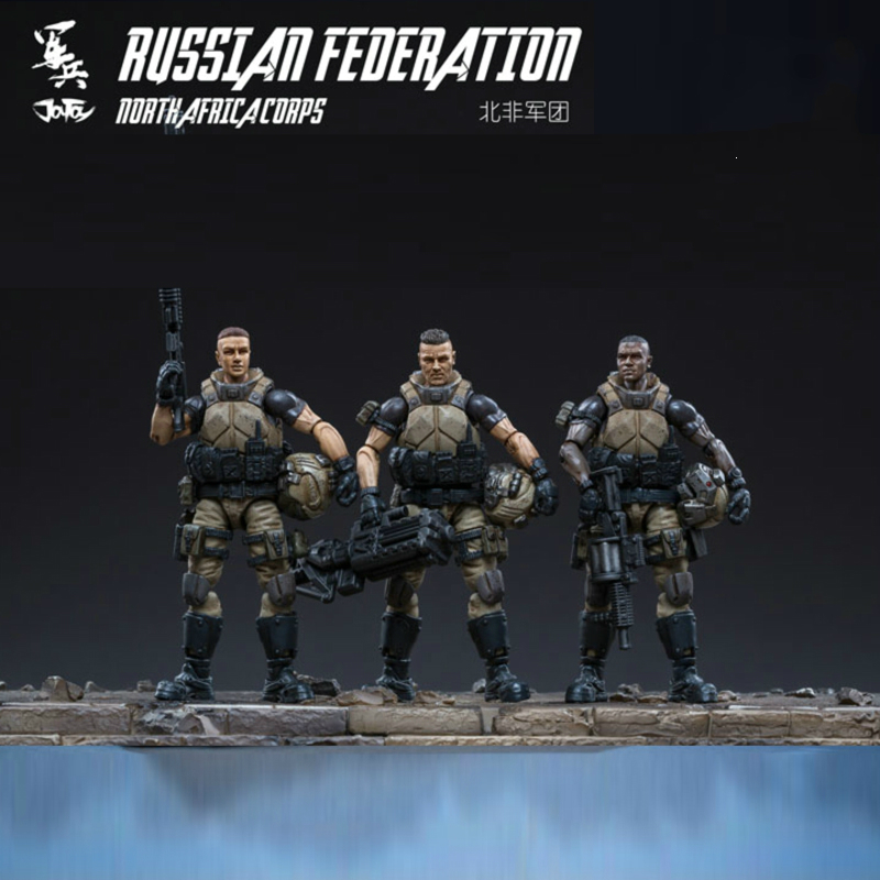 Joy Toy 1//18 Russian Feoeration North Africa Corps  Action Figure Set of 3 Toy