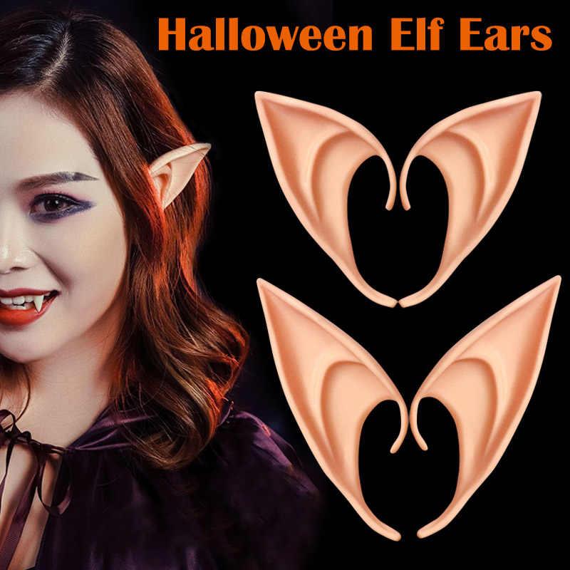 Nieuw 1 Paar Latex Elf Oren Party Props Gift Halloween Kostuum Levert Ir-Ing