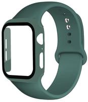 Vidrio + correa de reloj Apple Watch banda 38mm 40mm 42mm 44mm Protector de pantalla + + cinturón de accesorios pulsera Watch Serie 6 5 4 3 Se 40