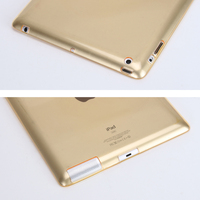 """4 2 for ipad 2/3/4 TPU drop-resistant transparent tablet computer suitable for 9.7 inch universal A1395 / A1397 / A1396 / A1416 9.7"""" (4)"""
