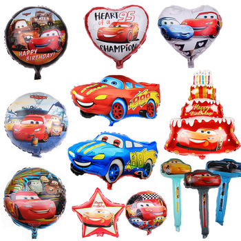 Cartoon Disney Cars Lightning McQueen Theme Aluminum Film Balloon Children Birthday Party Gift Decorations Baby Shower Supplies image