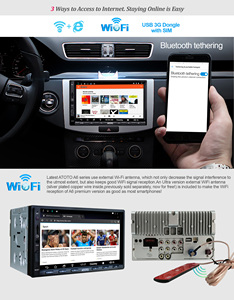 Image 3 - [NEUE] ATOTO A6 Doppel din Android Auto GPS Navigation Stereo Player/Dual Bluetooth/A6Y2710SB 1G/16G Unterhaltung Multimedia Radio