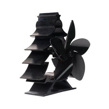 Villa Fireplace Fan Black High Temperature Heat Fan Smart Energy Saving And Environmental Protection Fireplace Fan