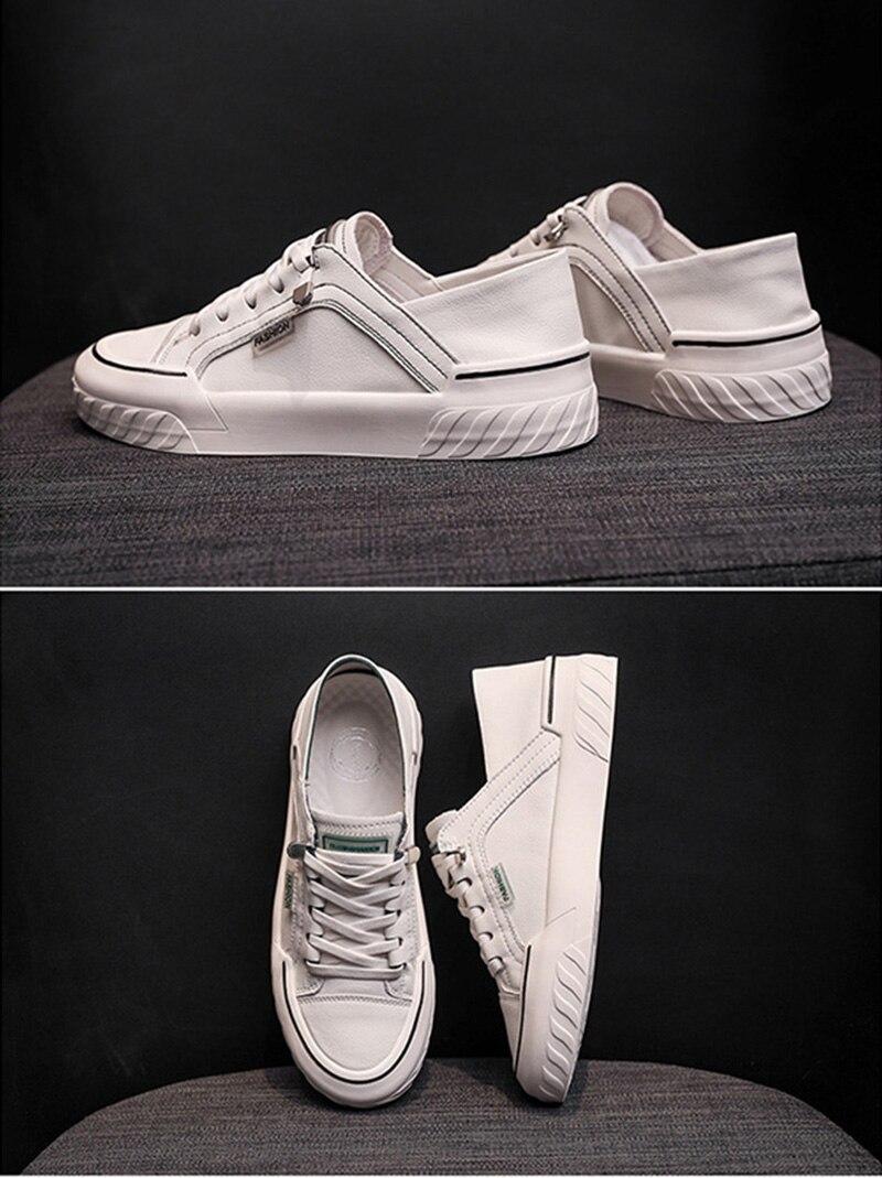 feminino casual, lace up, sapatos vulcanizados, branco 2020 hvt1127