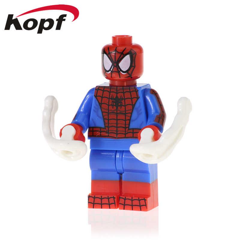 בניין סופר גיבורי ירוק גובלין ספיידרמן Kingpin עכביש-גוון לבנים פעולה דמויות לילדים צעצועי XH 1137