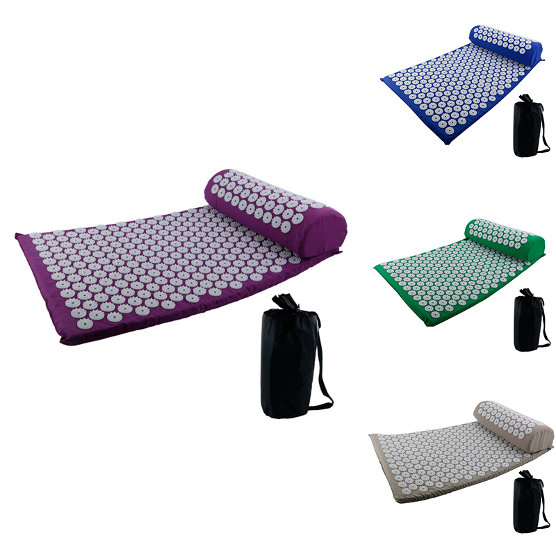 Acupressure Mat And Pillow Massage Set Acupuncture Floor Pad For Relieve Sciatic Back Neck Headaches And Pain At Pressure Points