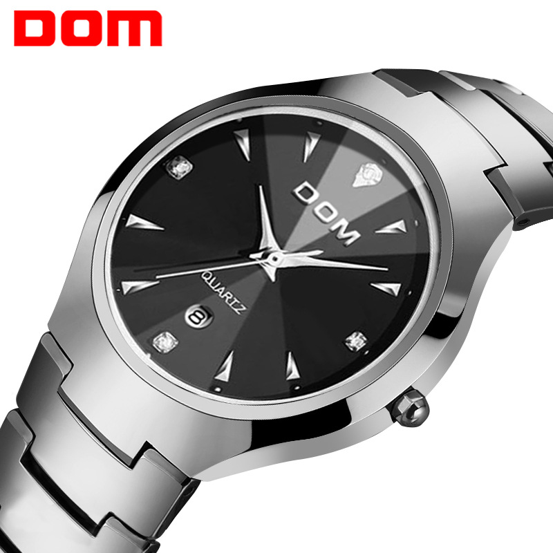 Permalink to DOM (Dom) Watch Fashion Coatings Mirror Tungsten Steel Waterproof Quartz Watch W-698-1m