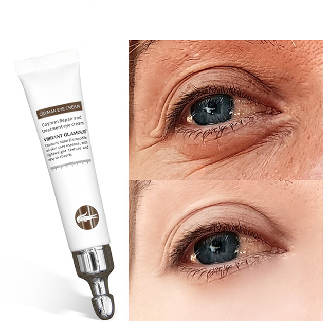 Vibrant Glamour Instant Remove Eyebags 20g Crocodile Anti Wrinkle Cream Lifting Firming Remove Dark Circle Fine Lines Eye Cream 1